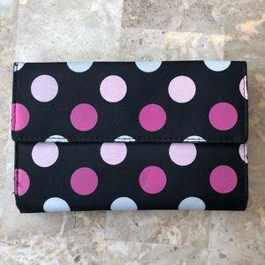 Handbags - Pink Polka Dot Snap Wallet